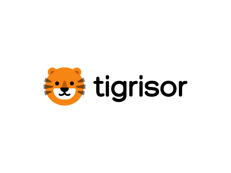 Tigrisor logo fun kids tiger