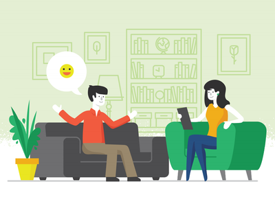Psychotherapy Final psychotheraphy psychology illustration session therapy woman man couch vector