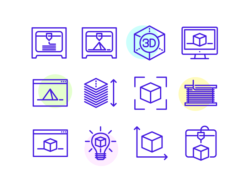 Icons 3d printing