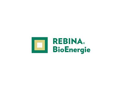 Rebina green bio energy mark logo rebina