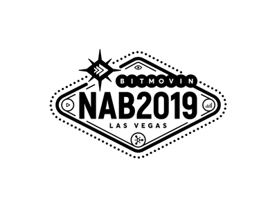 Nab 2019 sticker badge logo encoding video nab bitmovin