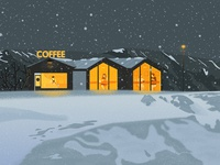 Coffeeshop In Snow