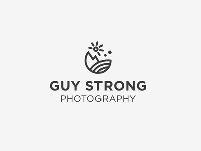 Guy Strong Concept: Sun Rise logo