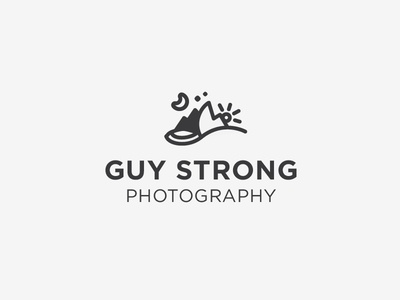 Guy Strong Concept: Night & Day logo