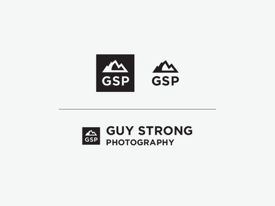 Guy Strong Logo: Night & Day (Revised) logo