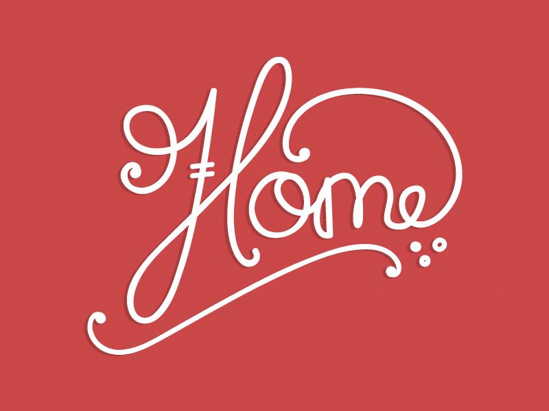 Home v.1 typography