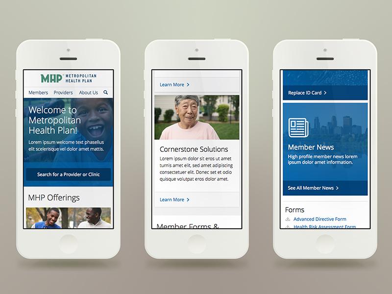 Health Plan Mobile Concept Direction mobile website