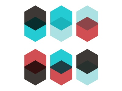 two times six shapes color combinations pattern transparency illustration vector