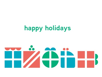 Holiday Card shapes vector illustration color combination
