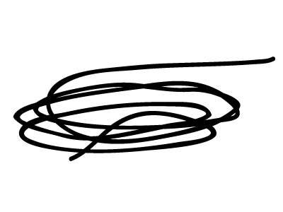 I'm Ready to Go Home scribble line tangle illustration