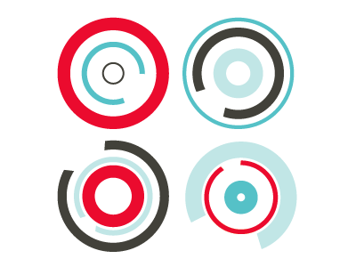 Circle Motion shapes pattern color vector