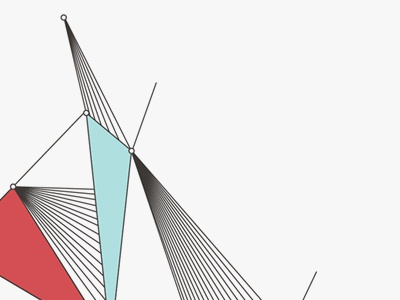 Geometric lines geometric shapes color