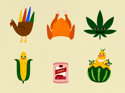 Gobble Gobble Sticker Pack