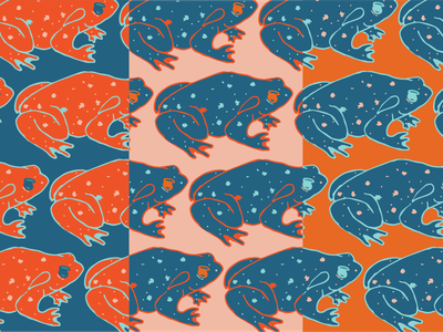 Toad Pattern vector frog frogs pattern design textile pattern toad
