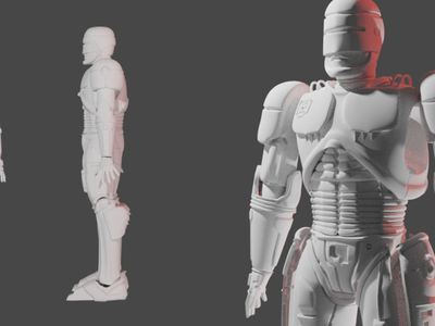robocop sculpt full blender speed sketch illustration design character 3d artist hardsurface robocop