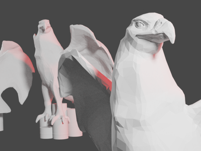eagle close up low poly sculpt branding blender logo illustration design character 3d artist speed sketch sculpt low poly eagle