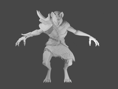 gnoll aliens alien full sculpt logo blender speed sketch illustration design character 3d artist