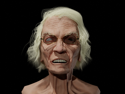 old female alien ui full sculpt vector branding logo blender speed sketch illustration design character 3d artist