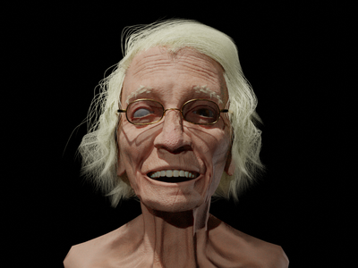 old female ui full sculpt logo blender speed sketch illustration design character 3d artist female old