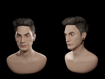 male face alien full sculpt logo blender speed sketch illustration design character 3d artist