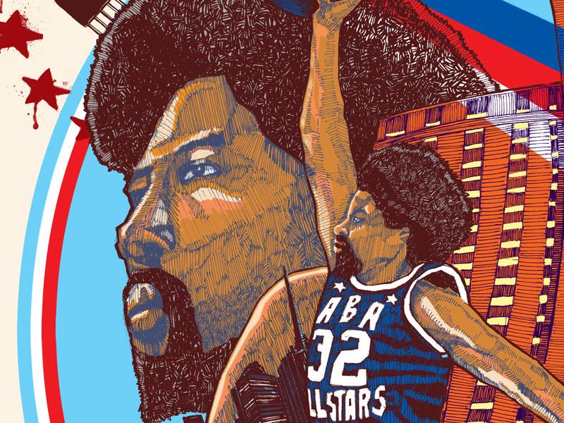 The Doctor illustration hoops basketball