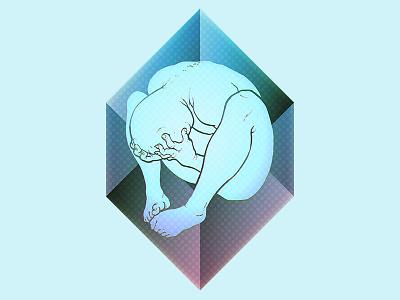 despair ~ prism despair sad depression geometry prism cube illustration confined datamouth