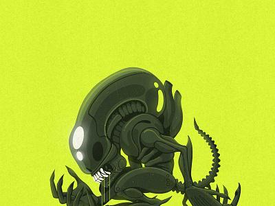 Xeno 1 • 2 • 3 xenomorph alien photoshop design procreate character datamouth illustration