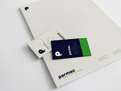 Parmac Logo + Brand typography illustration minimal icon vector branding design logo