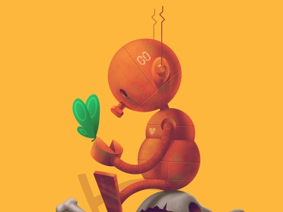 Nobot art procreate photoshop cute character datamouth illustration