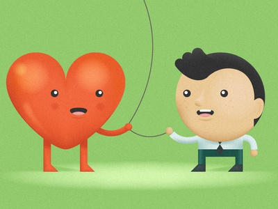 be a friend to your heart. friend heart love cute datamouth illustration graphic design