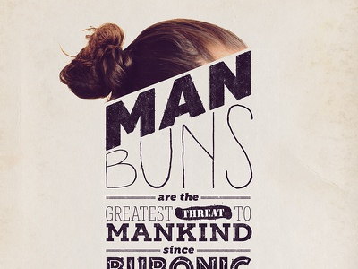 man buns beer design letter type typography