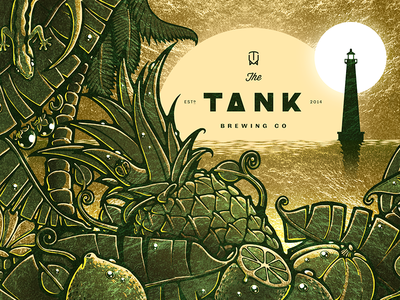 Tank IPA Illustration