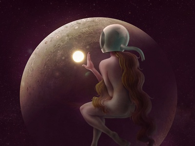 Space Marshall woman planet space photoshop wacom illustration