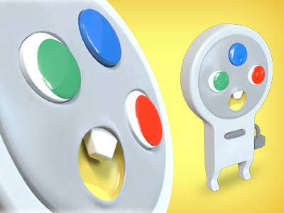 Controllers - Super Famicon (3D Model) datamouth character nintendo video game controller famicon