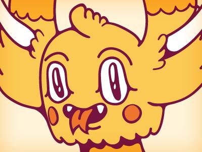 The Majestic Watdafak. weird creature illustration cute monster datamouth