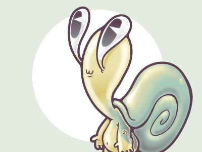Snarnold snail gummy illustration cute character datamouth