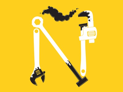 Ñ oil hispanic tools wrench typography datamouth