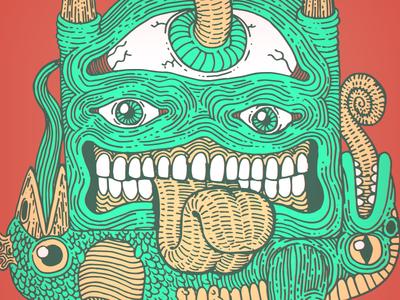 totem totem datamouth illustration