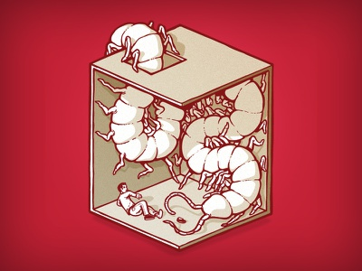 nightmare #2 illustration character datamouth centipede cube