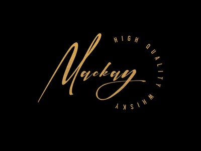 Mackay luxury design luxury logo luxury graphic design wordmark whiskey and branding signature logo golden logodesign creativity creative logo creative design creative idea logo design logotype design logo