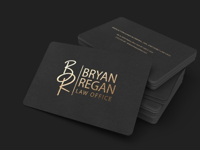 Bryan Regan I Law office I Business card minimalist logo modern creative gold luxury design luxury logo logo design business card design business card