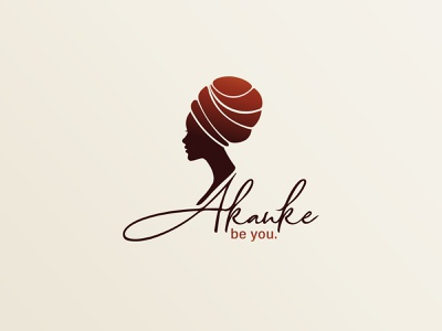 Akanke I Beauty care african woman creative logo design graphic design logo design beauty care skin care beauty care