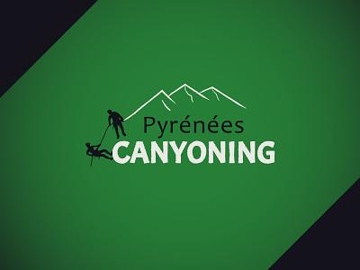 Canyoning sports design canyoning canyons logo design branding logo design