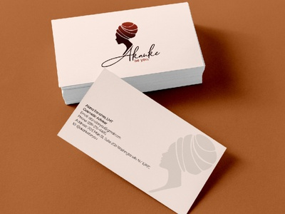 Akanke Business card beuty cosmetic business card design businesscard identity branding logo design graphic design logo branding