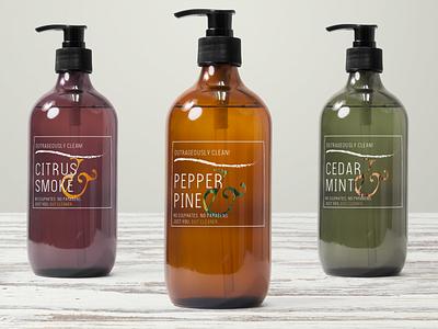 body wash labels + branding typography logo branding