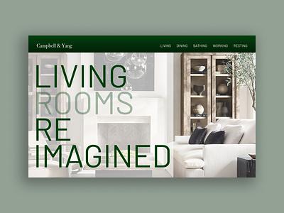 Landing Page design web typography