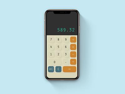 Calculator app ui typography design