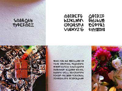 Sabbath Typeface symbol character sabbath lettering typographic typography typeface font design egotreep