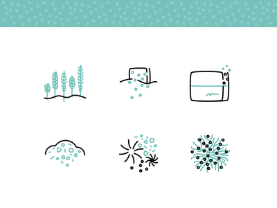Soma Biosporin™ Process Icons biotechnology lineart ecology mycelium sustainable biodegradable design eco minimal drawing icon vector egotreep illustration