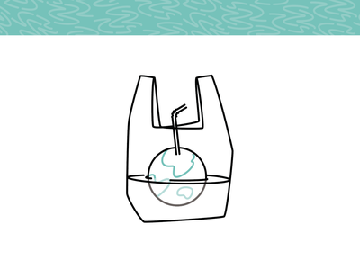 Soma - The World is Drowning in Plastic plastic illustraion sustainable biodegradable ecology minimal lineart drawing icon